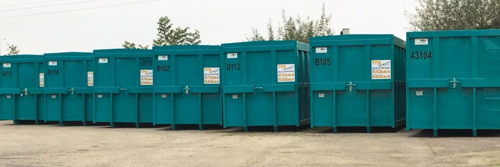 Used tyre collection bins
