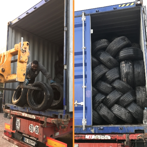 Selling used tyres, delivery in containers
